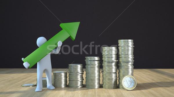Manikin Euro Growth Chart Stock photo © limbi007