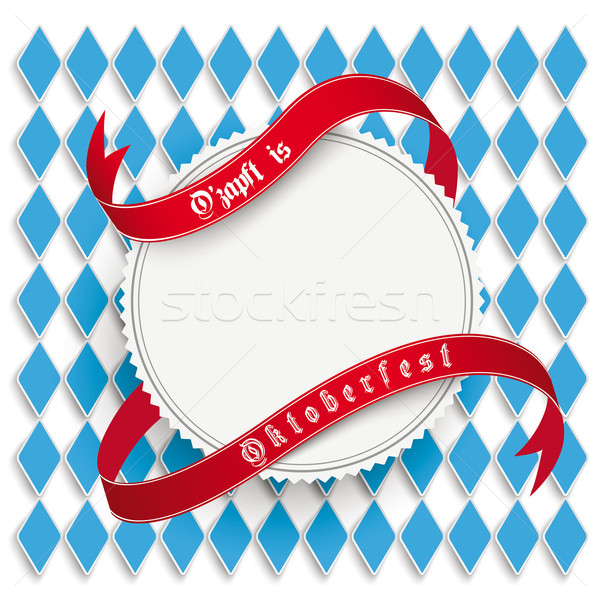 Munich Oktoberfest White Round Prongs Emblem Stock photo © limbi007