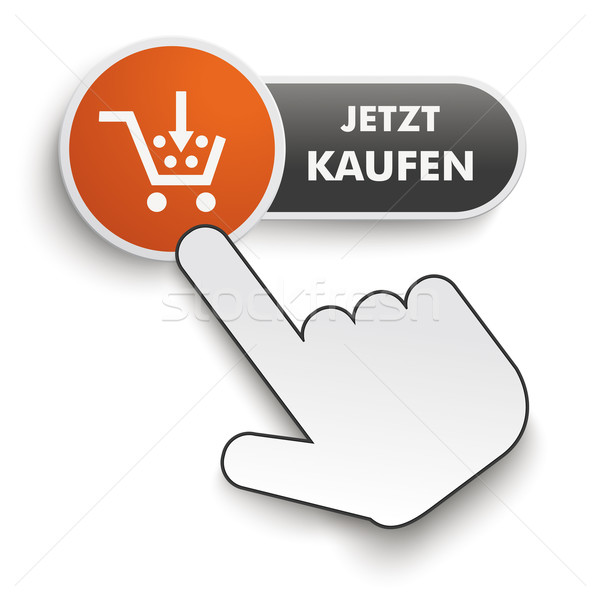 Stock photo: Buy It Now Button Hand Cursor