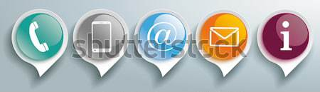 Contact US Circles Information Stock photo © limbi007