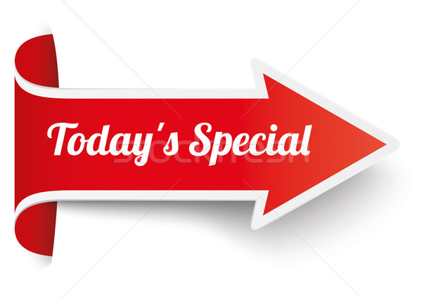 Convert Red Arrow Banner Todays Special Stock photo © limbi007