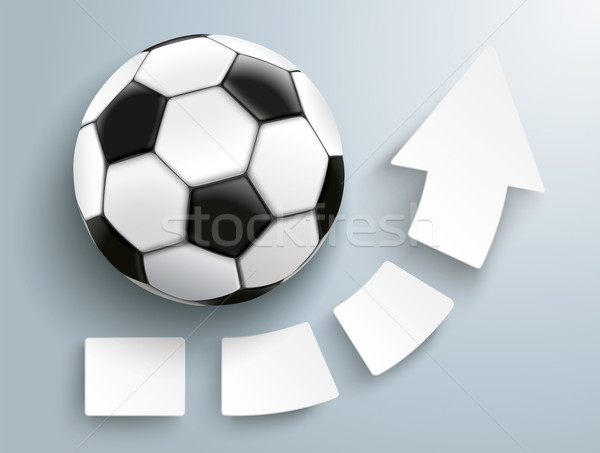 Growth Arrow Four Pieces Football Stock photo © limbi007