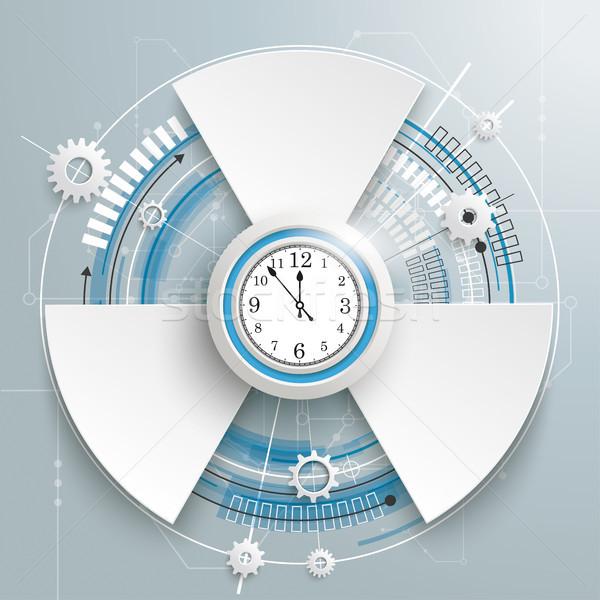 Futuristic Gear Construction Clock Circuit Board 3 Options Stock photo © limbi007