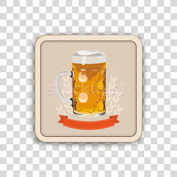 Stock photo: Beer Coaster Transparent