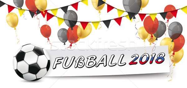 Paper Banner Buntings Balloons Germany Fussball 2018 Stock photo © limbi007