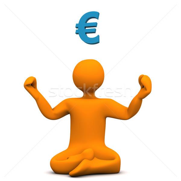 Yoga euros orange poste symbole Photo stock © limbi007