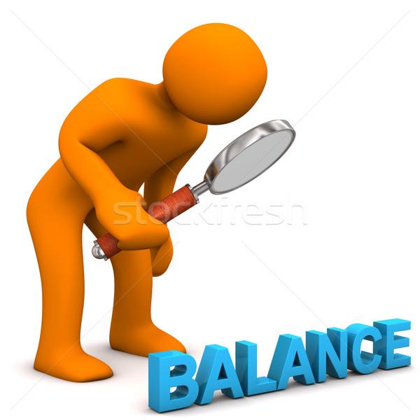 Evenwicht oranje tekst business Stockfoto © limbi007