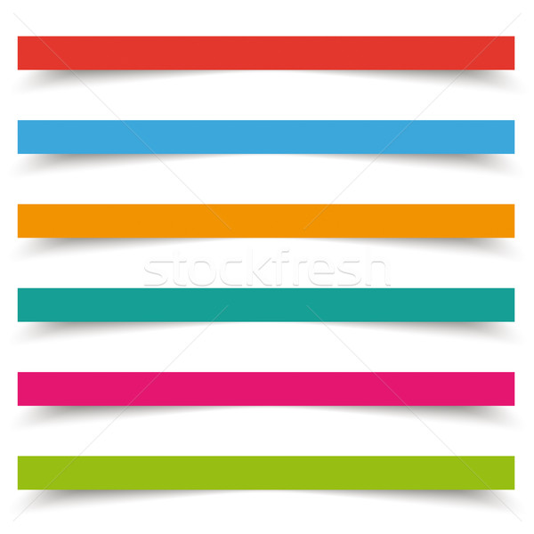 Colored Banners 2 Shadows White Background Stock photo © limbi007