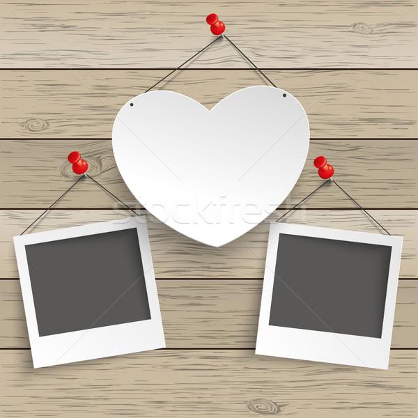 Carta cuore immediato immagini legno Foto d'archivio © limbi007