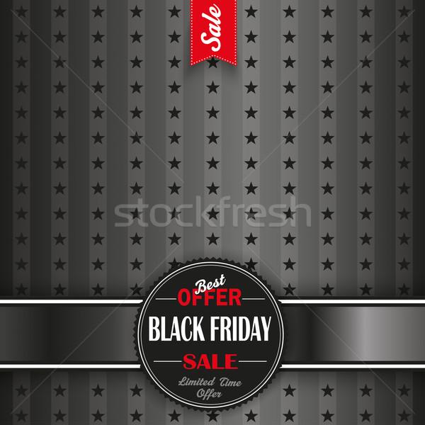 Black Friday Emblem Stars Stripes cover Stock photo © limbi007