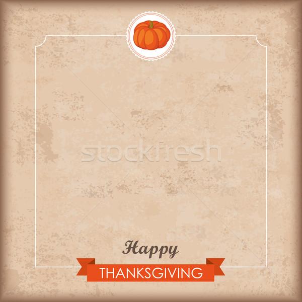 Ribbon Thanksgiving Small Emblem Pumpkin Stock photo © limbi007