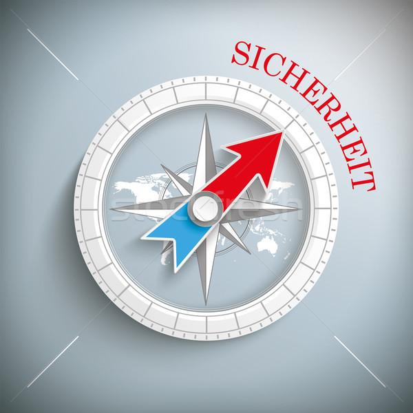 Stock photo: Compass Sicherheit