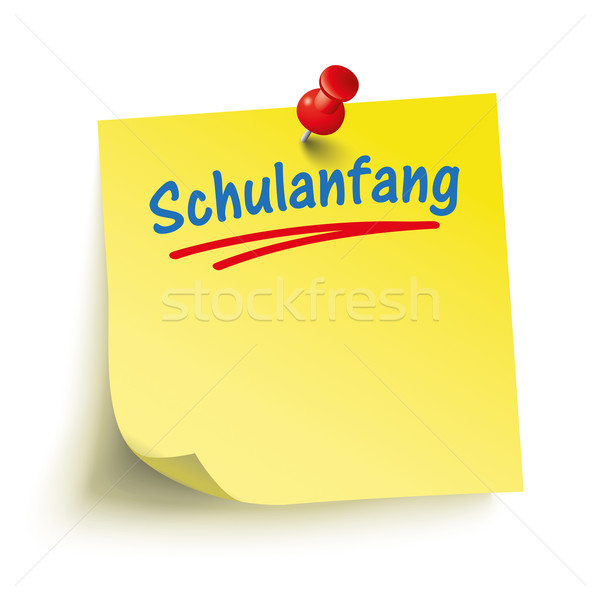 Yellow Stick Red Pin Schulanfang Stock photo © limbi007