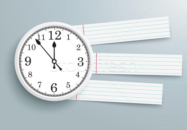Clock checked Paper Striped Lines PiAd Stock photo © limbi007