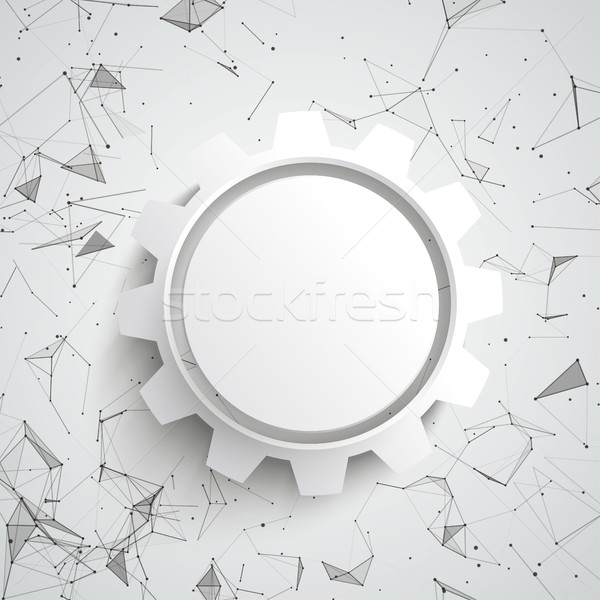Gear Wheel Abstract Background Connected Dots Stock photo © limbi007
