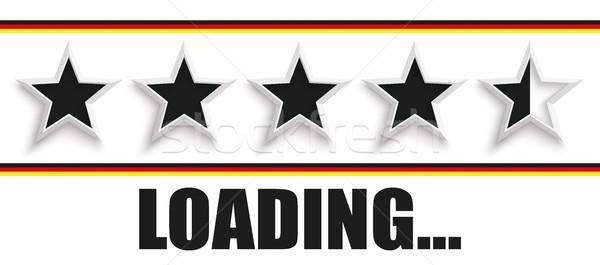 5 Black Stars Germany Header Loading Stock photo © limbi007