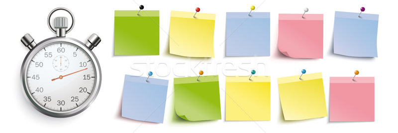 Colored Sticks With Pins Header Double Stopwatch Stock photo © limbi007