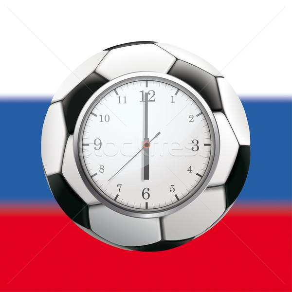 Clock Football Russia Stock photo © limbi007