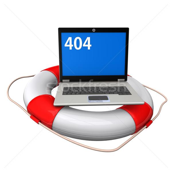 Laptop Lifebelt 404 Stock photo © limbi007