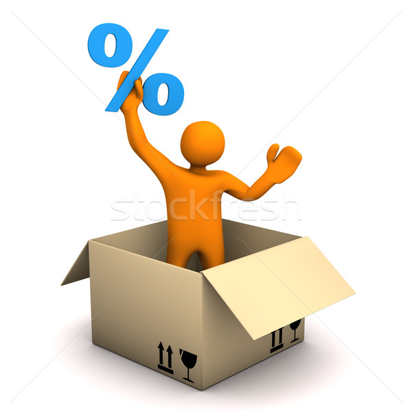 Manikin Parcel Percent Stock photo © limbi007