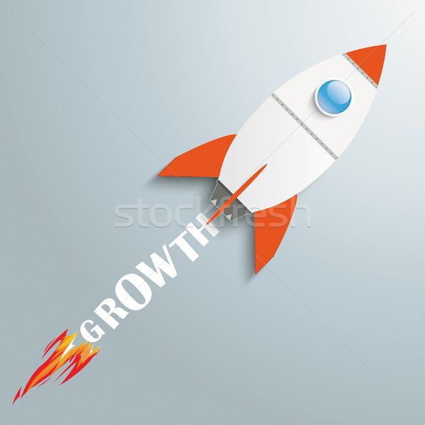 Paper Rocket Growth Stock photo © limbi007