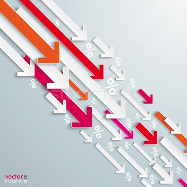 Arrows Down White Pink Percentage Losing Business Stock photo © limbi007