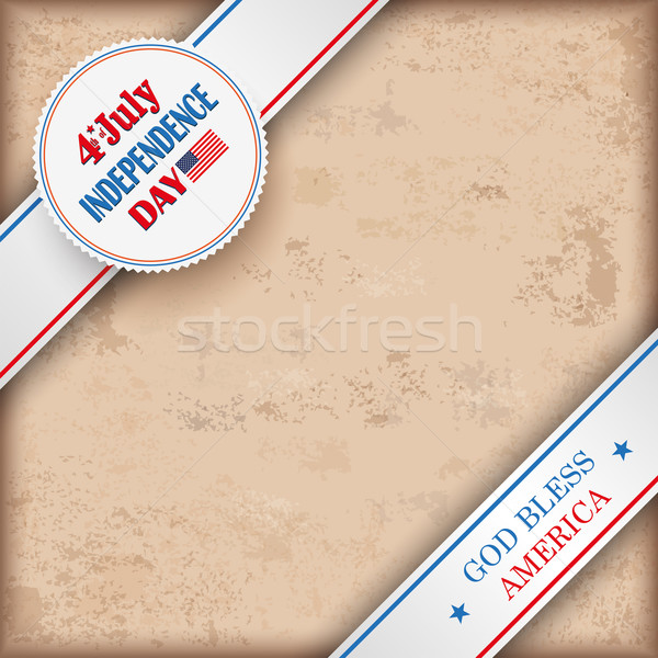 Vintage Background 4 July US Flag Stock photo © limbi007
