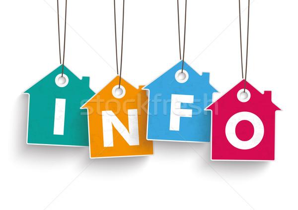 House Price Stickers Info Stock photo © limbi007