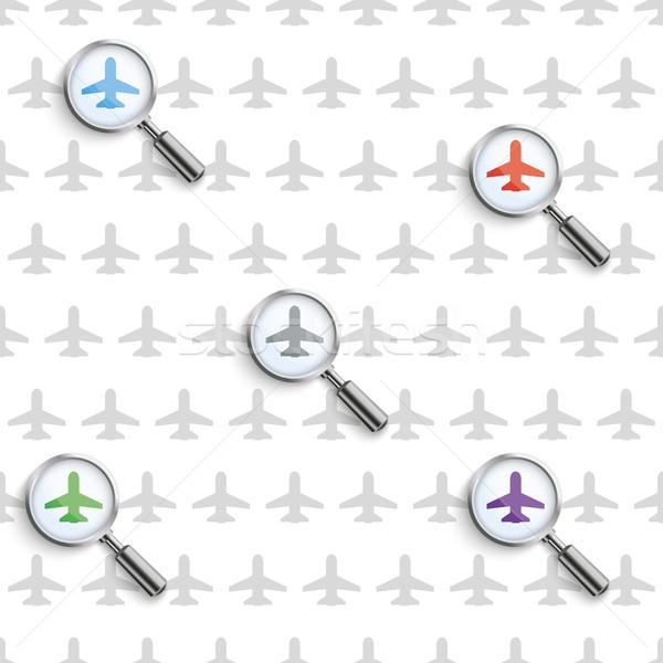 Vluchten zoeken patroon witte eps Stockfoto © limbi007