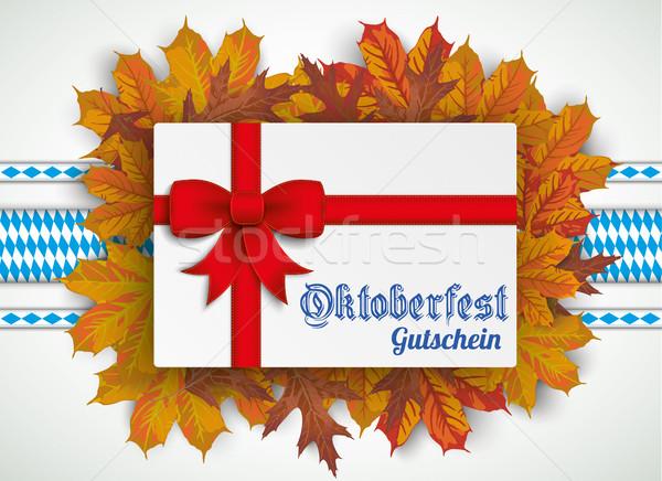 Oktoberfest Gutschein Beer Foliage  Stock photo © limbi007
