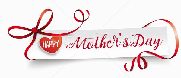Paper Banner Ribbon Mothers Day Stock photo © limbi007