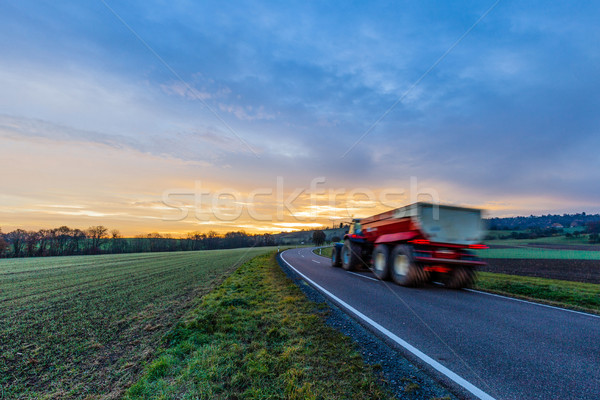 Tractor On The Road Stock photo © limbi007