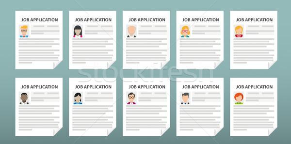 Humans 10 Job Applications Stock photo © limbi007