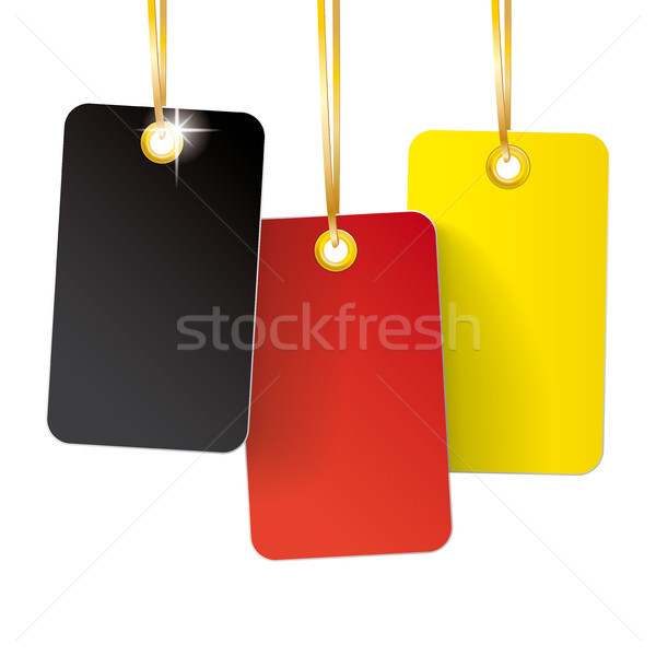 3 Germany Price Sticker Golden Ribbons Stock photo © limbi007