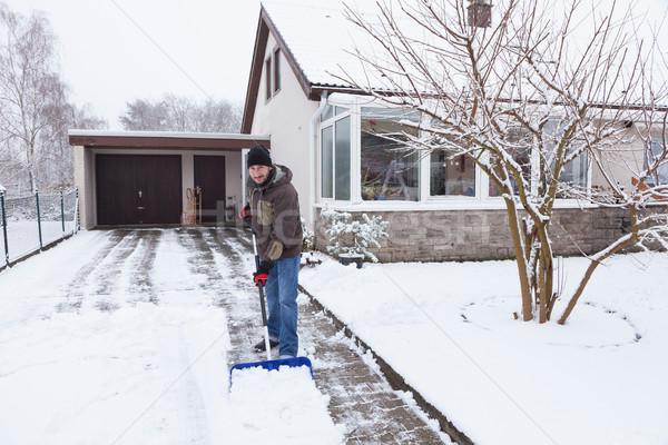 Snow Shovelling Stock photo © limbi007