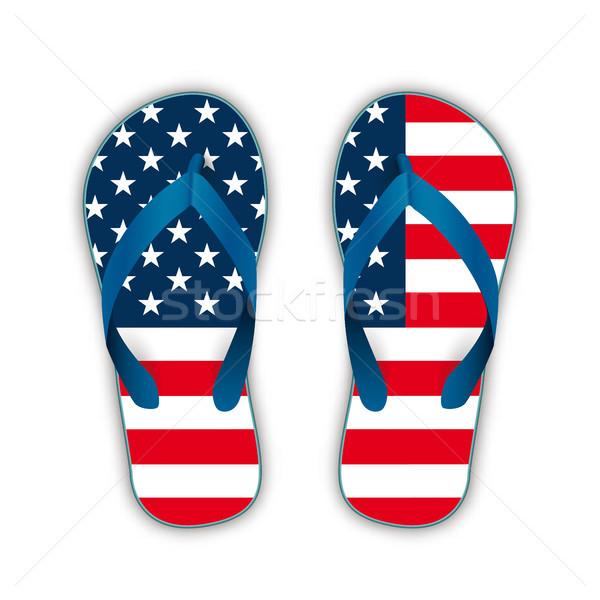 Flip-Flops USA Flag Stock photo © limbi007