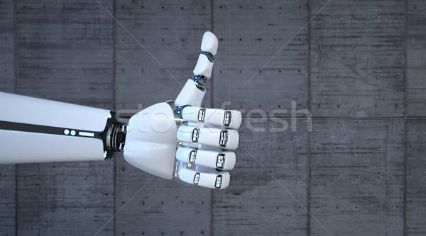 Robot Hand Ok Stock photo © limbi007