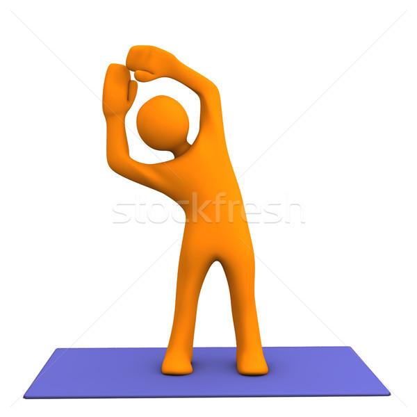 Esportes laranja desenho animado Foto stock © limbi007