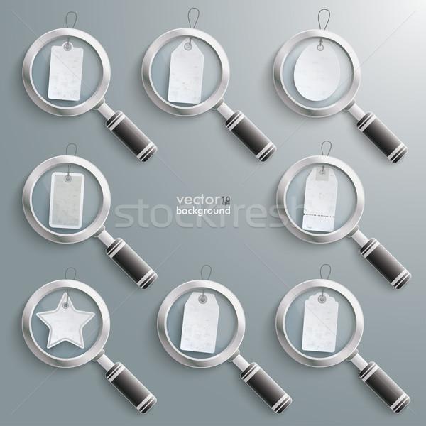 White Price Stickers Loupe Set Stock photo © limbi007