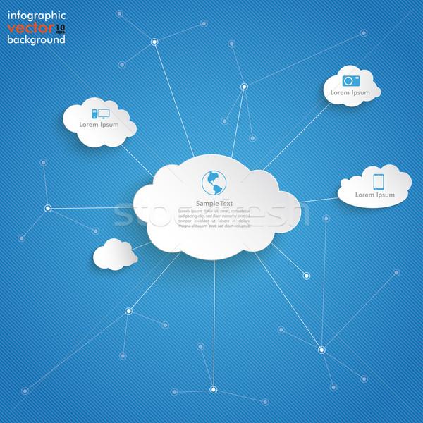 White Clouds Blue Sky Networks Stock photo © limbi007