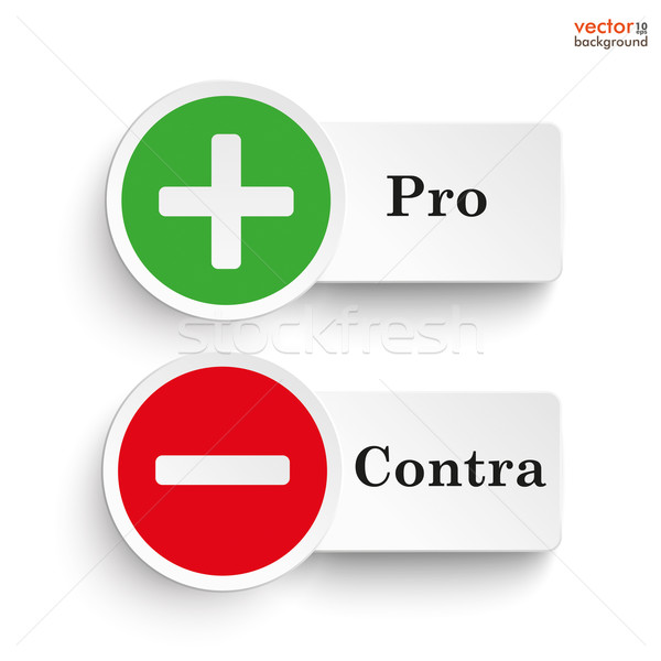 Pro Contra Round Icons Stock photo © limbi007