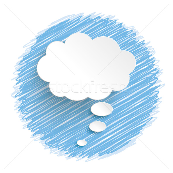 白 思考バブル 青 インフォグラフィック デザイン eps ストックフォト © limbi007
