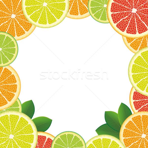 White Centre Citrus Fruits Stock photo © limbi007