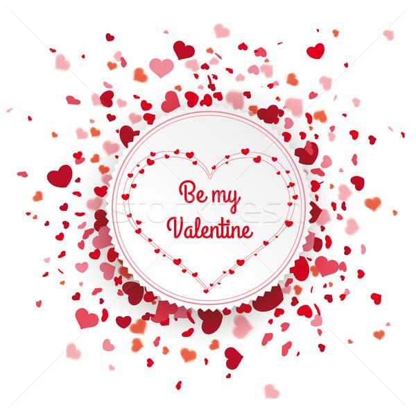 Emblem Confetti Hearts Cover My Valentine Stock photo © limbi007