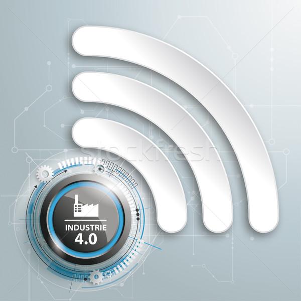 Industrie 4.0 WiFi Stock photo © limbi007