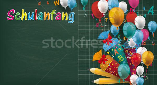 долго доске шаров конфеты текста Снова в школу Сток-фото © limbi007