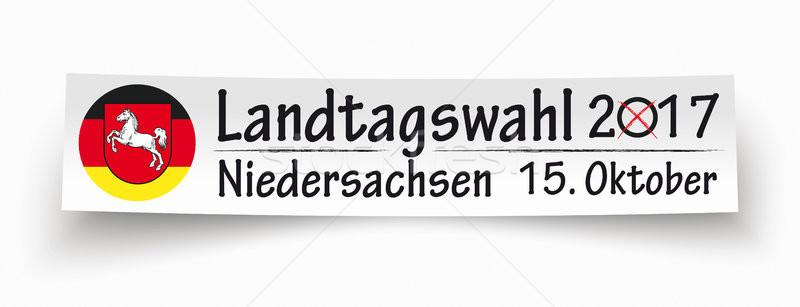 Paper Banner Landtagswahl Niedersachsen 2017 Stock photo © limbi007