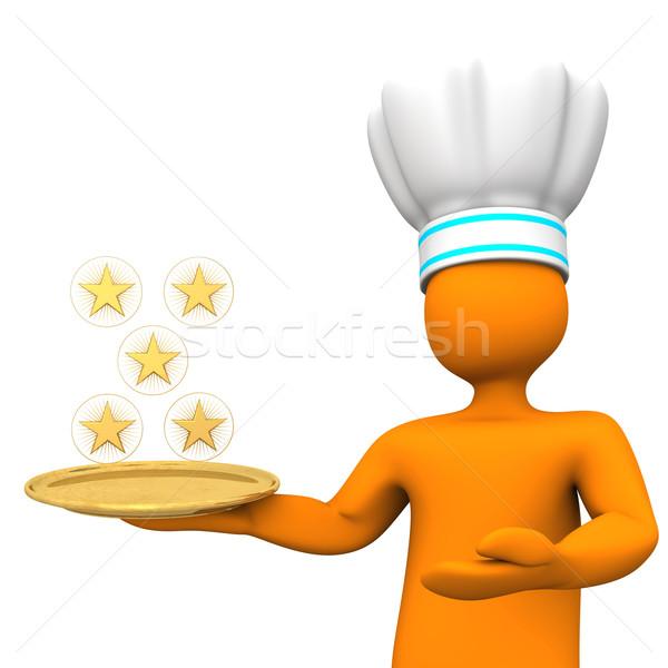 Five-Star Chef Toon Stock photo © limbi007