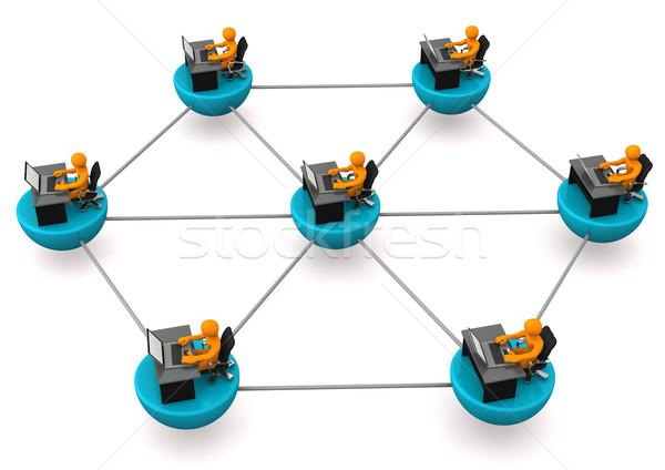 Networked Employees Stock photo © limbi007