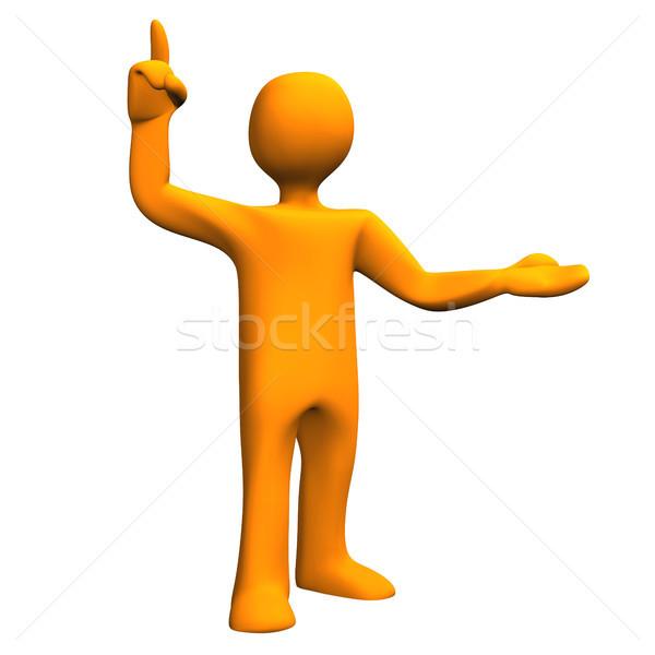 Napomknąć pomarańczowy pomysł biały człowiek Zdjęcia stock © limbi007
